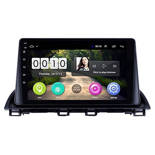 SDFLKH Android 8.1 Radio De Automóvil para Mazda 3 Axela 2013-2018 Coche Estéreo GPS Navegación Táctil Mostrar Media Player Doble DIN Head Unit Support WiFi Control del Volante(Color:4G+WiFi:2+32G)