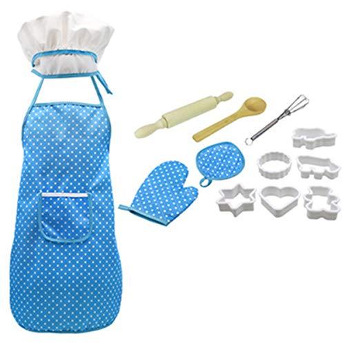 Nicoone Set de cocina y horneado para nios, 13 piezas, para nios y nias pequeas