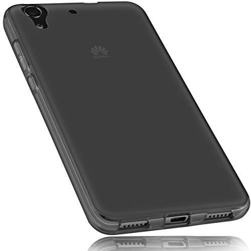 mumbi Hülle kompatibel mit Huawei Y6 II compact Handy Case Handyhülle, transparent schwarz