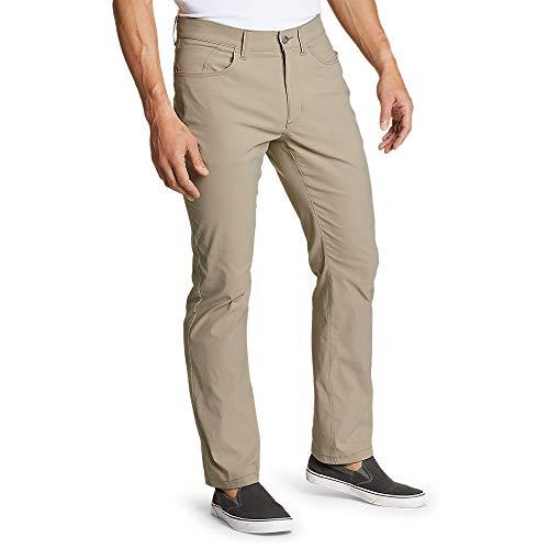 Eddie Bauer Men's Horizon Guide Five-Pocket Pants - Straight Fit, Lt Khaki Regul