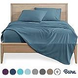 Bare Home Split King Sheet Set - 1800 Ultra-Soft Microfiber Bed Sheets - Double Brushed Breathable Bedding - Hypoallergenic – Wrinkle Resistant - Deep Pocket (Split King, Coronet Blue)