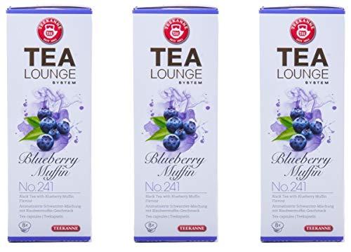 Teekanne Tealounge Kapseln – Blueberry Muffin No. 241 Schwarzer Tee (3×8 Kapseln)