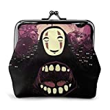 Spirited Away Faceless Man Coin Purse Wallet Purses Credit Cards Pouch Kiss Lock Exquisite Buckle Make Up Cellphone Change Women Leather Cash Coin Purses Wallets