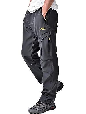 Jessie Kidden Waterproof Trousers Mens Snow Ski Winter Softshell Windproof Fleece Lined Outdoor Walking Hiking Climbing Camping Pants