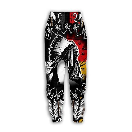 Unisex joggers - 3D-print Native American Indian joggingbroek etnische totem patronen broek
