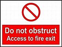 警告サインエスケープルートは、火災の出口道路標識のビジネスサイン8 x 12インチアルミニウム金属錫記号Z 0826へのアクセスを妨害しないでください