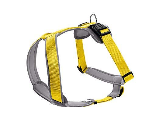 HUNTER NEOPREN Hundegeschirr, Nylon, gepolstert mit Neopren, für Sport und Freizeit XS, gelb/grau