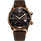 Alpina Men's Stainless Steel/Bronze PVD Swiss Automatic Sport Watch with Leather Strap, Brown, 21 (Model: AL-525BR4H4)