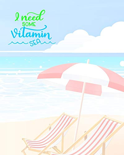 I Need Some Vitamin Sea: Trip Travel Journal | Travel Planner | Trip Information Logbook | Vacation Journal & Planner | Holiday Check Lists, Itineraries, & Bookings | Journal Pages & Trip Info