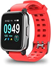 Smart Watch for Android/iPhone, Activity Fitness Trackers Health Exercise Watches with Heart Rate, Sleep Monitor and Calorie for Men Women, Red
