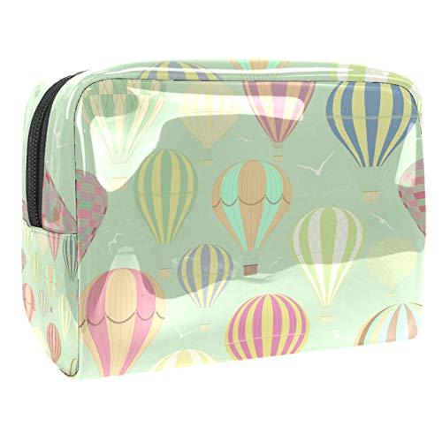 Bolsa de maquillaje de PVC para mujer y niña, organizador de artículos de tocador cosméticos, bolsa de 7.3 x 3 x 5.1 pulgadas Hipple Mandala Floral
