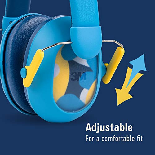 3M Kids Hearing Protection PLUS, Hearing Protection for Children with Adjustable Headband, Blue, 23dB Noise Reduction Rating, Studying, Quiet, Concerts, Events, Fireworks, For Indoor and Outdoor Use
