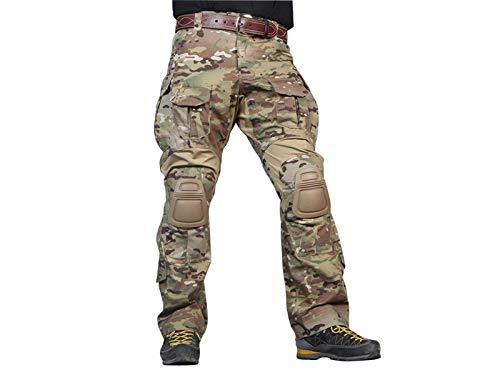 Paintball Equipment Tactical Emerson Gen3 Combat bdu Pants with Knee Pants Multicam MC (L)