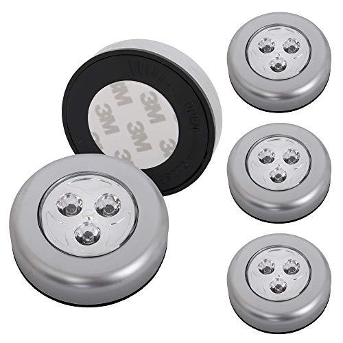 Briloner Leuchten - 5er Set Stick&Push LED Touch Lampe, batteriebetrieben, Nachtlicht selbstklebend (3M Markenkleber), Küchenlampen, Schrankleuchten