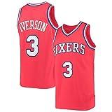 アダルトレトロノースリーブバスケットボールジャージ、3#iverson Swingmanジャージー、1996-97 Classic Rookie Collect Jerseys styleD-S