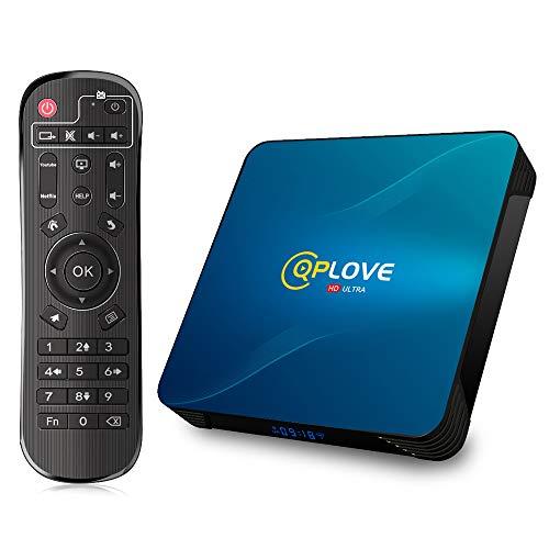 Box TV Android 10.0 QPLOVE 4 GB 32 GB 4K Smart TV Box RK3318 Quad-Core 64 bit Cortex-A53 Doppia moglie 2.4G 5G Ethernet 100M BT4.0 USB3.0 HDMI 2.0 KD18.1 Android TV Box