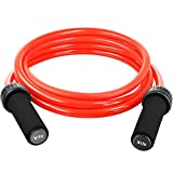 Weighted Jump Rope - (1.5LB) Solid PVC 12mm Diameter for Crossfit and Boxing - Heavy Jump Rope with...