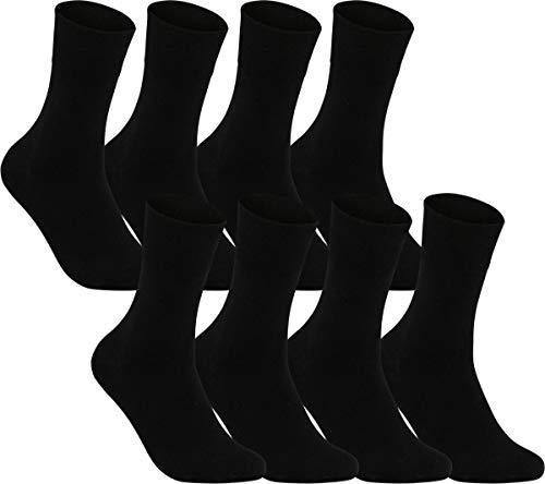 world wide sox | Socken & Strümpfe für Herren | Baumwolle elastisch ohne Gummidruck | 8 Paar | schwarz | 39-42