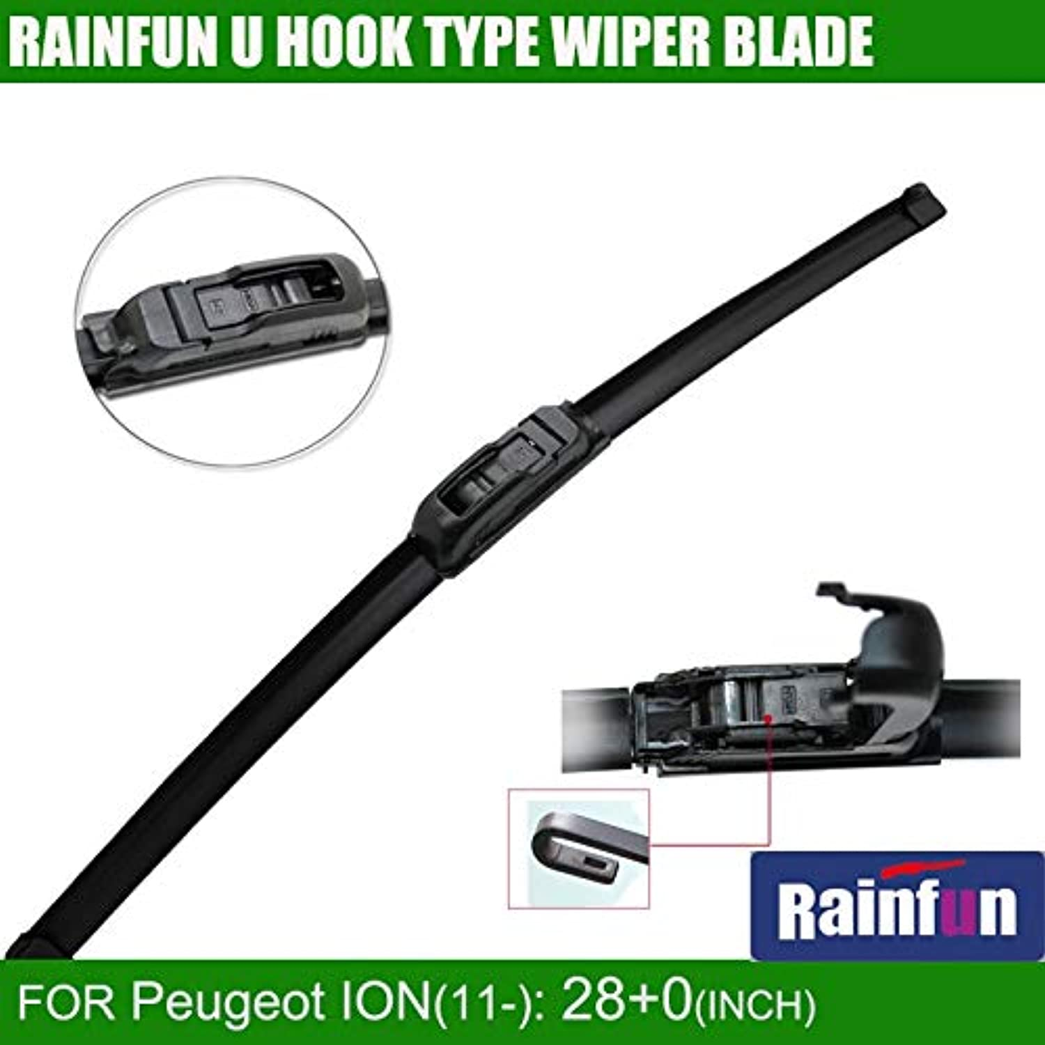 Wipers Rainfun Jh001 28 +0  Dedicated Car Wiper Blade for Peugeot Ion(11), 2Pcs A Lot