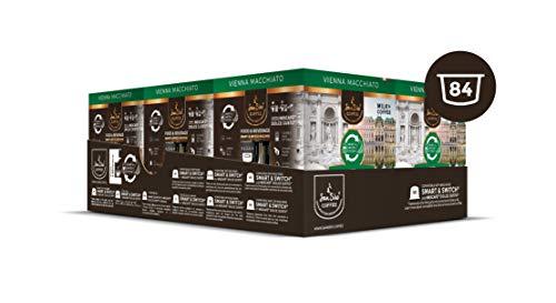 SanSiro Vienna Macchiato - 84 Nescafé® Dolce Gusto® kompatible Kaffee & Milchkapseln - 6er Pack (6 x 7 Kaffeekapseln & 7 Milchkapseln)