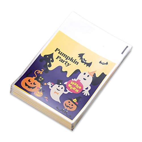 jiheousty 100 Stück Halloween Candy Bag Kürbis Hexe gedruckt Cookie Dessert Verpackung Taschen Beutel für DIY Ghost Festival Party Supply