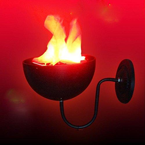 ZXZ-GO Lumières de Flamme KTV Bar Accessoires de décoration de Maison hantée Lustre de Mariage Lampe à brason à Simulation électronique LED, 20 Inside - Wall Hanging