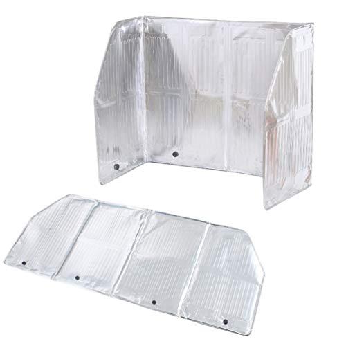 YARNOW Küchenschutz Anti-Splatter-Schild Aluminiumfolie Gasherd Schild Ölspritzer-Bildschirm Küchenölschutz (Silber 120 X 50 cm)