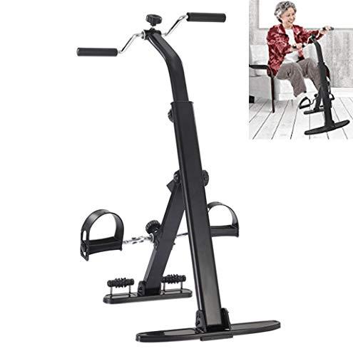 SXHASMZYXY Heimtrainer-Arm- und Beintrainer, Ganzkörper-Ganzkörper-Workout-Fitness Falt-Fitnessgeräte für Senioren und ältere Pedal-Heimtrainer