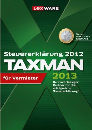 TAXMAN 2013 für Vermieter (für Steuerjahr 2012) [Download]