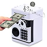 Electronic Piggy Bank, Money Bank for Kids, Cartoon Password ATM Piggy Bank for Real Money, Kids Piggy Banks Auto Scroll Piggy Banks Animated Panda Bank Cute and Fun Kid's Toy Electronic Bank