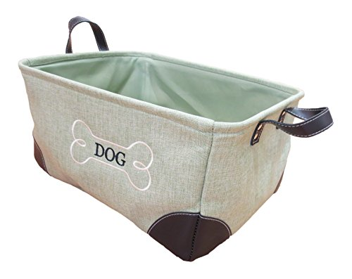 Best Bargain Winifred & Lily Pet Toy and Accessory Storage Bin, Organizer Storage Basket for Pet Toy...