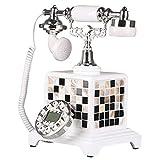 SXRDZ Antiguo teléfono Fijo Retro Domicilio telefono de teléfono Fijo Antiguo Adornos de Sala de Estar