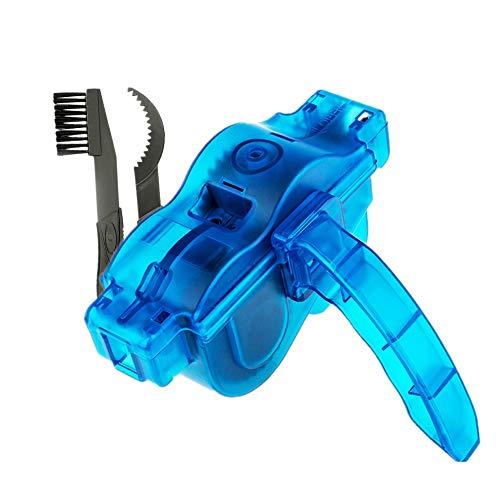 Fahrrad Ketten Reinigungsgerät Set, Fahrrad Kettenreiniger Set mit Bürsten für Ritzel | Pinsel Werkzeug Reinigung Scrubber Fahrrad Kettenreinigung für Rennrad Mountainbike etc. | blau