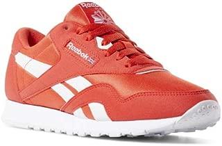 Reebok Classic Nylon Sneaker, Canton red/White, 3 M US