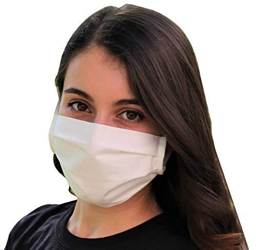 Pack 2x Mascarilla Higiénica Reutilizable UNE 0065 Tela 100% Algodón - Adulto L - BFE 98% - Lavable Antialérgica - Homologada en España - Cottonblock