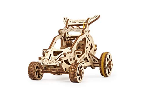 UGears 3D Puzzle for Kids and Adults - Small Motor Vehicle Mechanical Model Kit - Wooden Model Kits for Adults to Build - Easy Self-Assembling - Gorgeous Gift for Boys and Girls (Mini Buggy)