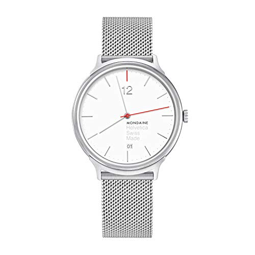 Mon Helvetica no1 Light spiekermann Edition Mens Analog Swiss Quartz Watch with Stainless Steel Bracelet MH1.L2212.SM