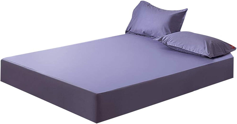 ZHAOHUI Mattress Predector Cotton Waterproof Hypoallergenic Dust-Proof Anti-mite Soft Skin-Friendly Noiseless, 3 colors, 4 Sizes (color   Purple, Size   200X220cm)