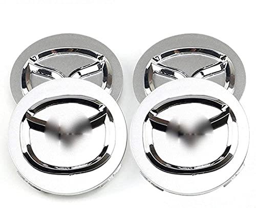 Liuyunding 4 Piezas Tapas Centrales para Llantas para Mazda, con Logo Rueda Centro Tapacubos Tapas Accesorios De DecoracióN De Coches, 56mm