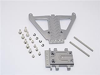 Traxxas Slash 4x4 LCG (68086-21) / Deegan 38 Fiesta (74054-6) Upgrade Parts Aluminum Front Gear Box Protector - 1Pc Set Gray Silver