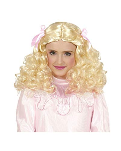 Horror-Shop Perruque Enfant Princesse Blonde