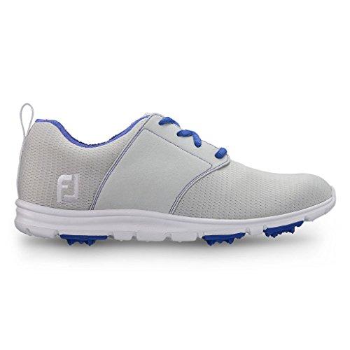 FJ Enjoy Damen Golfschuhe - Spikeless & Ultrabequem (38, Grey/Blue)