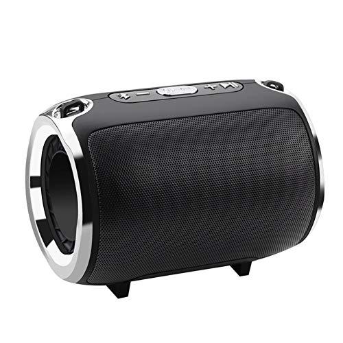 DKee. Schwarz drahtlose Bluetooth-Stereo-Lautsprecher Bünde Subwoofer-Lautsprecher HiFi tragbare Boombox Unterstützung FM Radio TF AUX USB