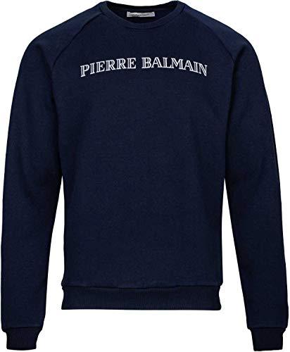 Pierre Balmain Paris Herren Pullover Sweatshirt Logo Sweat-Shirt Men