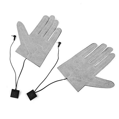 Holywonder 2 Stück Elektrische Heizkissen, USB, Handschuhe, Fünf Finger, Heizmatte, Lithium-Akku, 3 Geschwindigkeiten, Thermostat