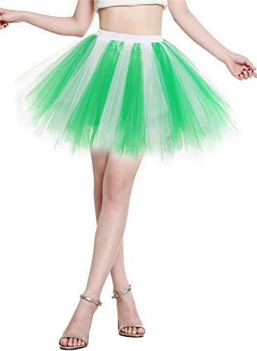 BeryLove Tutu damesrok tule rok kort balet dansjurk onderrok cosplay crinoline rockabilly petticoat voor carnaval partyjurk