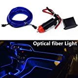 Romdink 4m LED Stripes12v EL Wire Auto Licht Dekoration LED Stripes Innenraumbeleuchtung Lichtschlauch LED Streifen Auto Dekoration