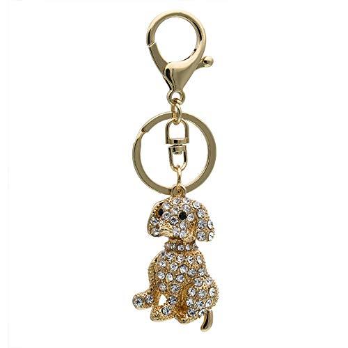 Komo Key metalen water boor cartoon schattige hond auto sleutelhanger sleutelhanger ring Gouden Wit