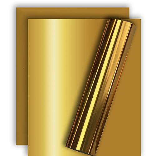 Tvinyl Gold Metallic Foil HTV Heat Transfer Vinyl for Tshirt and Apparel 12 X 10( Pack of 3 )