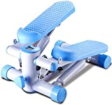 ZOUSHUAIDEDIAN Ajustable Stepping Cubierta Mini de Pasos máquina aeróbica Trainer con Las Bandas elásticas Ajustables y Pantalla LCD for el hogar, Oficina y Gimnasio